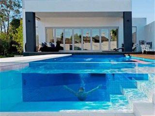 Персонализирана прозрачна акрилна дебела плексигласова ламарина за проект за плувен басейн
