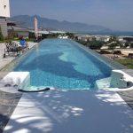 Прозрачен пластмасов покрив за басейн