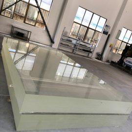 Прозрачен прозрачен акрилен лист отлепва дебел пластмасов панел за стена