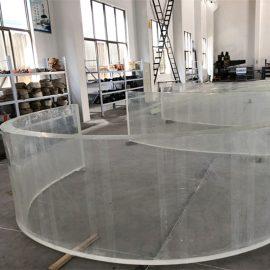 огледален акрилен извит пластмасов лист за аквариуми за рибни танкове