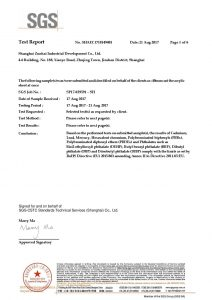 ROHS сертификат за изпитване EN
